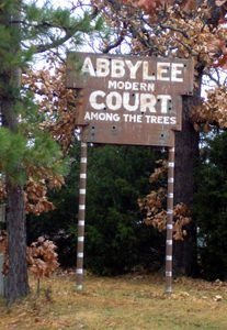 Abbylee Modern Court Sign by Kathy Weiser-Alexander.