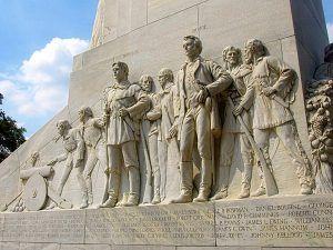 Alamo Defenders Memorial in San Antonio, Texas courtesy Wikipedia.