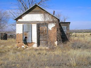 An old building in Ancho, New Mexico by Kathy Weiser-Alexander.