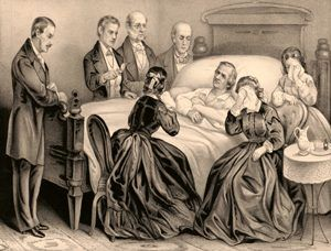 Andrew Johnson's death by Currier & Ives, 1875.