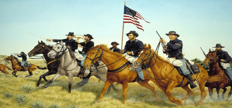 Soldiers in the West by Ralph Heinz.