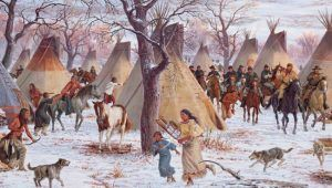Battle of Washita, Oklahoma by Steven Lang