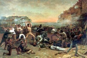 Battle of the Alamo by Robert J. Onderdonk, 1903.