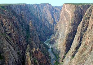 Black Canyon of the Gunnison, Colorado by the National Park Service.