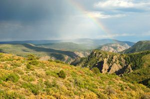 South Rim of the Black Canyon of the Gunnison, Colorado by the National Park Service.