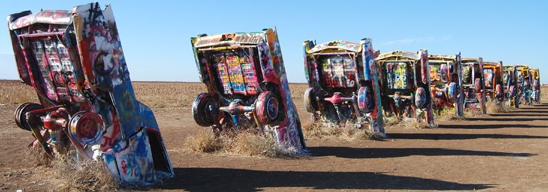 Cadillac Ranch, Amarillo, Texas by Kathy Weiser-Alexander.