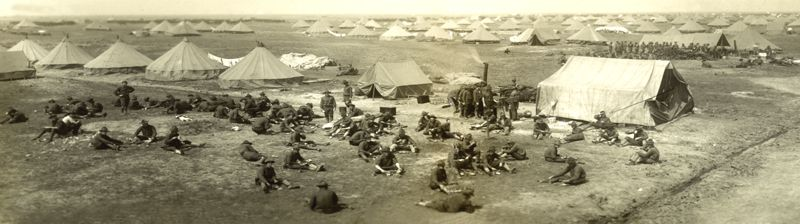 Soldiers encamped near Texas City, Texas.