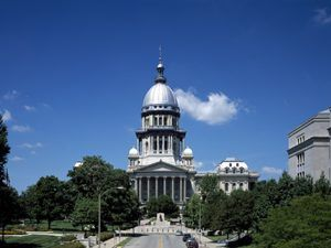 Current Illinois Capitol in Springfield, Illinois by Carol Highsmith.