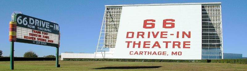 Route 66 Drive-In in Carthage, Missouri by Kathy Weiser-Alexander