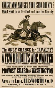 Bounty offered to join the Cavalry.