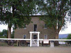 Maxwell's Aztec Mill in Cimarron, New Mexico still stands today and serves as a museum, by Kathy Weiser-Alexander.