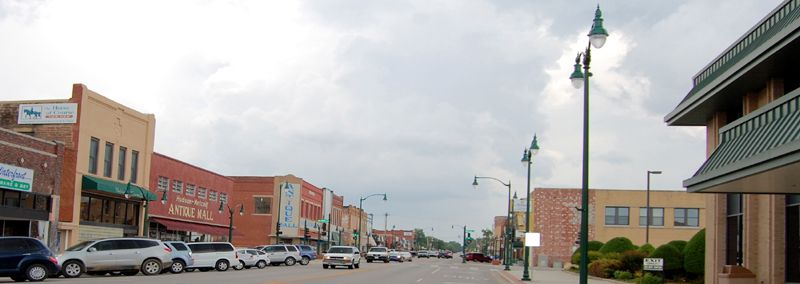 Claremore, Oklahoma Downtown by Kathy Weiser-Alexander.