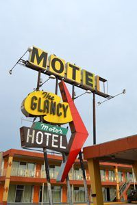 Glancy Motel, Clinton, Oklahoma.