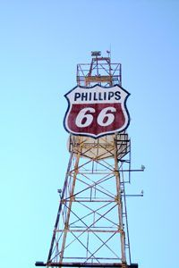 Phillips 66 tower in Clinton, Oklahoma.