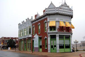 The Condon Bank building still stands in Coffeyville, Kansas by Kathy Weiser-Alexander.