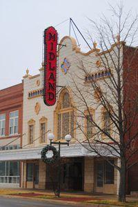 Midland Theatre, Coffeyville, Kansas by Kathy Weiser-Alexander.