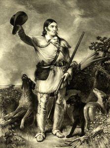 Colonel David Crockett by J.G. Chapman, 1839.