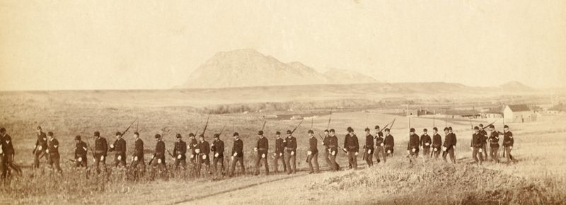 Company C, 3rd U.S. Infantry near Fort Meade, South Dakota by John C.H. Grabill, 1890.