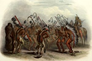 Dance of the Mandan Indians by Karl Bodmer