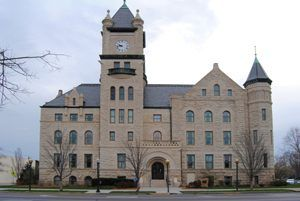 Douglas County Courthouse in Lawrence, Kansas by Kathy Weiser-Alexander.