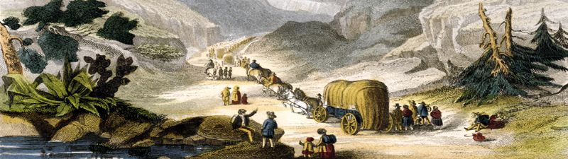 Emigrants heading west, 1850
