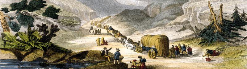 Emigrants heading west, 1850