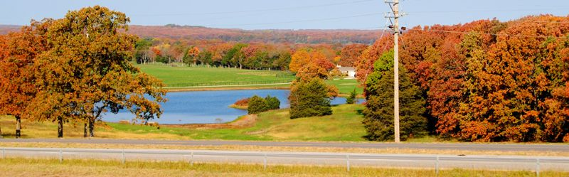 Autumn color along Route 66 near St. James, Missouri by Kathy Weiser-Alexander.