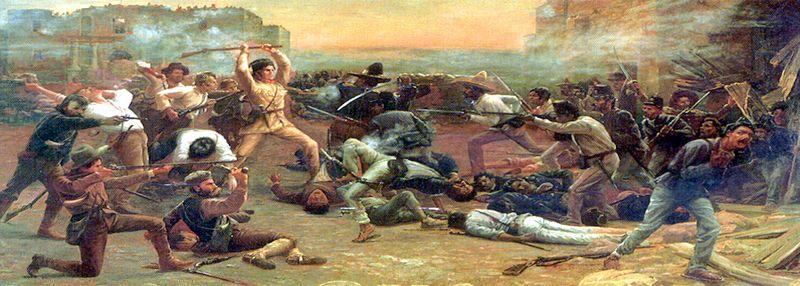 Fall of the Alamo by robert Jenkins Onderdonk, 1903.