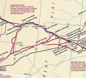 Mountain Branch of the Santa Fe Trail in Kansas