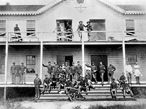 Enlisted Barracks at Fort Bidwell, California about 1890.