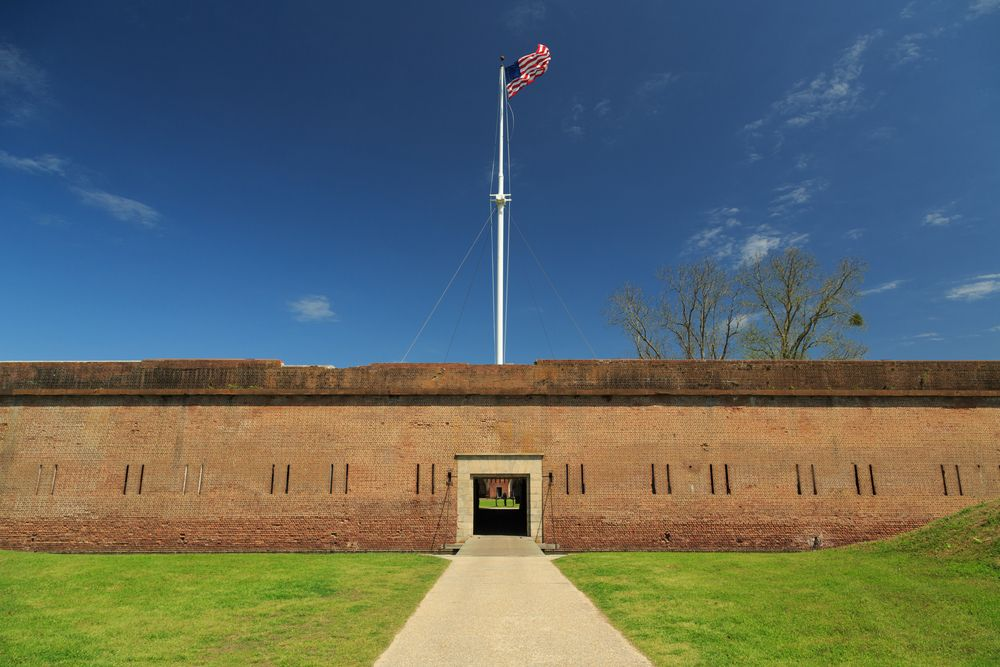 A photograph of Fort Pulaski National Monument in Savannah, Georgia. Photo by Stephen Allen