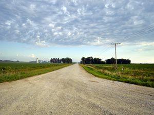 Rural Road in Franklin County, Iowa by Carol Highsmith.