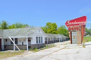 Gardenway Motel in Gray Summit, Missouri by Kathy Weiser-Alexander.