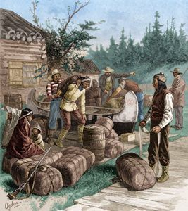 Hudson Bay Company traders by Henry Alexander Ogden.