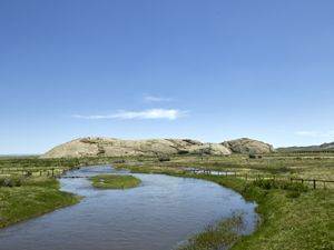 Independence Rock and the Sweetwater River in Wyoming by Carol Highsmith.