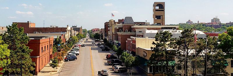 Lawrence, Kansas today by Ian Ballinger, Wikimedia
