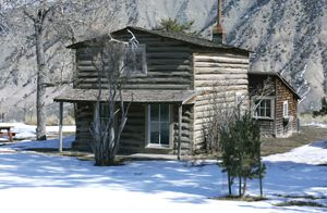 Mail Carrier Cabin at Mammoth Hot Springs, courtesy National Park Service.