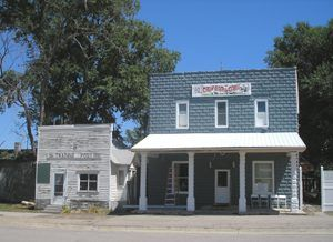 Old businesses in Mason City, Nebraska by Kathy Weiser-Alexander.