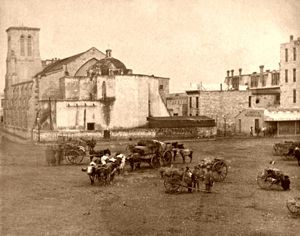 Military Plaza in San Antonio, Texas, 1875