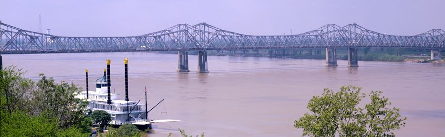 Mississippi River at Natchez, Mississippi.