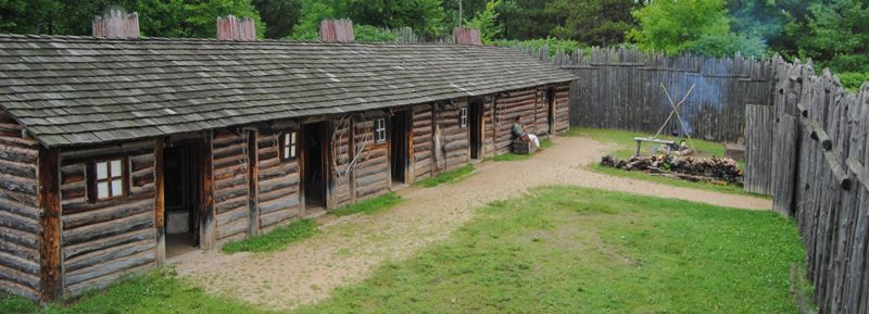 Reconstructed North West Trading Post near Pine City, Minnesota by Kathy Weiser-Alexander.