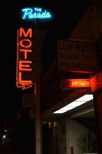 Pasada Motel Neon Sign, Pasadena, California by Carol Highsmith.