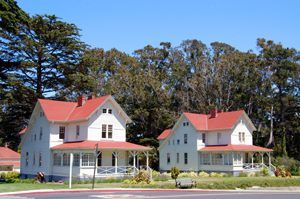 Buildings at the Presidio of San Francisco, California by Kathy Weiser-Alexander.