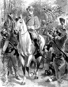 Robert E. Lee at Chancellorsville, Virginia.