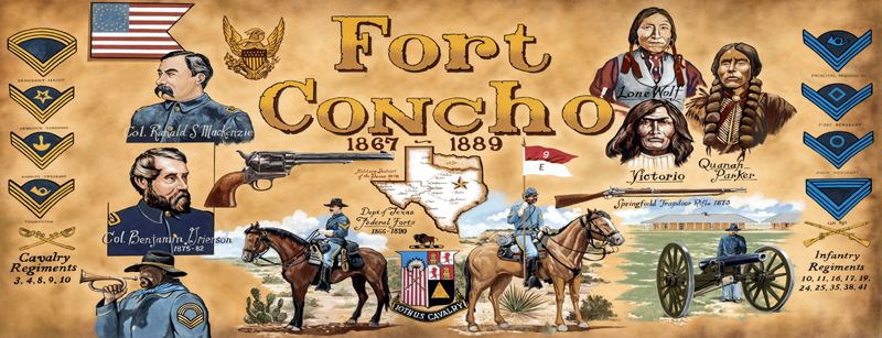 Fort Concho mural in San Angelo, Texas.