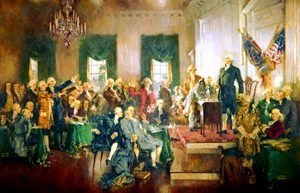 Signing of the Constitution of the United States, by Howard Chandler Christy, 1940.