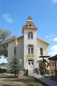 The Santa Fe Trail Museum in the old Colfax County Courthouse in Springer, New Mexico