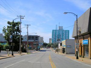 A street in downtown Springfield, Missouri by Kathy Weiser-Alexander.