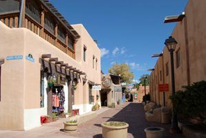 Downtown Artists' Community in Taos, New Mexico by Kathy Weiser-Alexander.