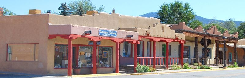 A street in modern-day Taos, New Mexico by Kathy Weiser-Alexander.
